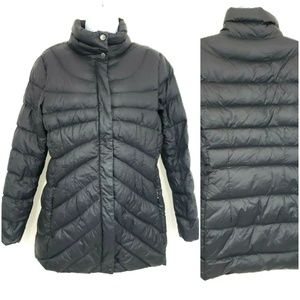 Land's End Black Quilted Puffer Down Jacket S